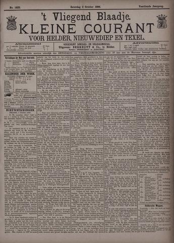 Vliegend blaadje : nieuws- en advertentiebode voor Den Helder 1886-10-02