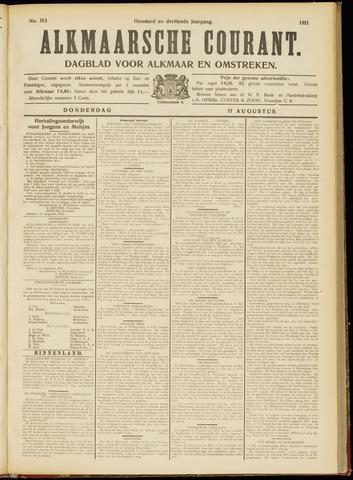 Alkmaarsche Courant 1911-08-17