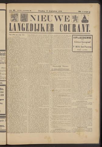Nieuwe Langedijker Courant 1924-08-12