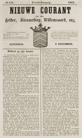 Nieuwe Courant van Den Helder 1862-11-08