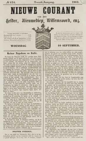 Nieuwe Courant van Den Helder 1862-09-10