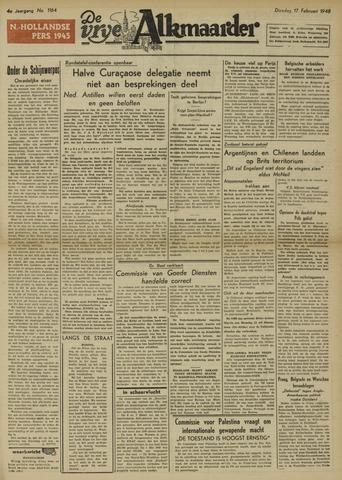 De Vrije Alkmaarder 1948-02-17