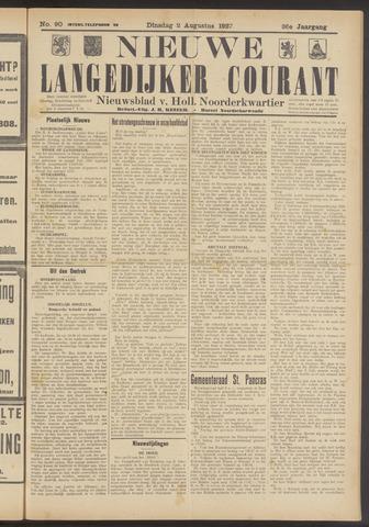 Nieuwe Langedijker Courant 1927-08-02
