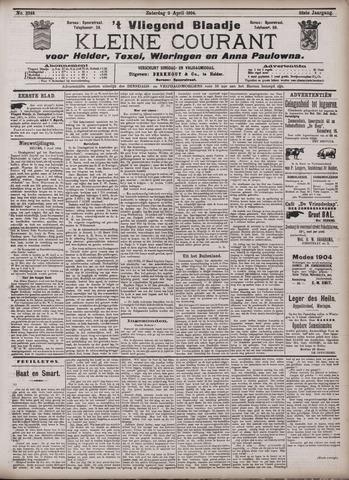 Vliegend blaadje : nieuws- en advertentiebode voor Den Helder 1904-04-02