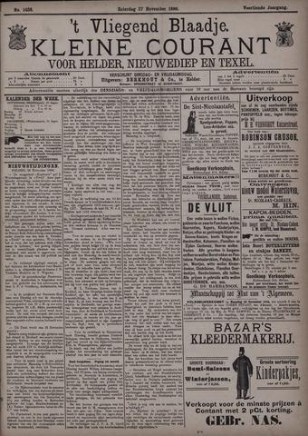 Vliegend blaadje : nieuws- en advertentiebode voor Den Helder 1886-11-27