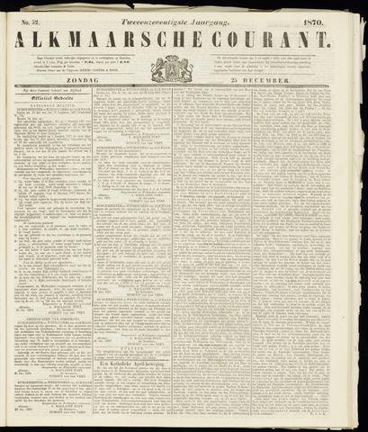 Alkmaarsche Courant 1870-12-25