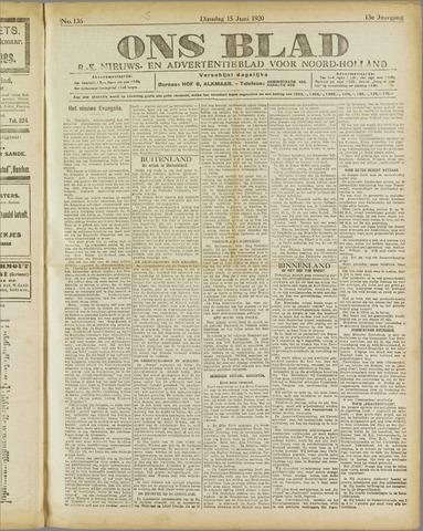 Ons Blad : katholiek nieuwsblad voor N-H 1920-06-15