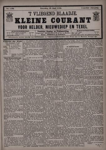 Vliegend blaadje : nieuws- en advertentiebode voor Den Helder 1884-06-28