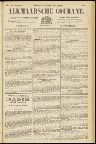 Alkmaarsche Courant 1903-11-13