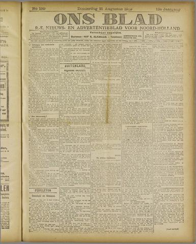 Ons Blad : katholiek nieuwsblad voor N-H 1919-08-21