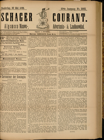 Schager Courant 1889-05-30