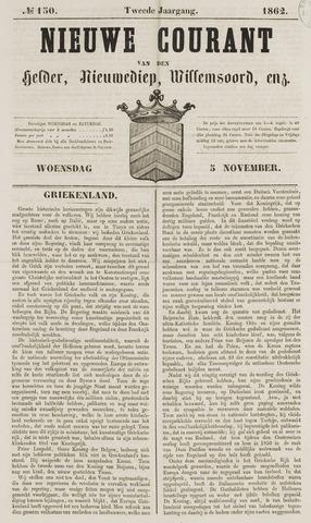 Nieuwe Courant van Den Helder 1862-11-05