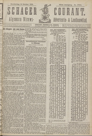 Schager Courant 1920-10-14