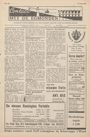 Contact met de Egmonden 1962-03-29