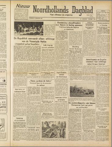 Nieuw Noordhollandsch Dagblad : voor Alkmaar en omgeving 1947-08-06