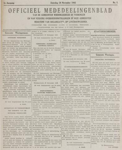 Mededeelingenblad Wieringermeer en Wieringen 1942-11-28