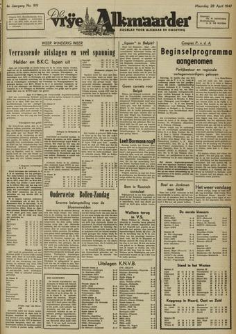 De Vrije Alkmaarder 1947-04-28