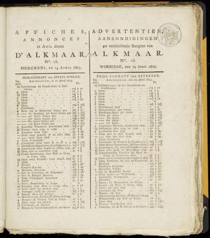 Alkmaarsche Courant 1813-04-14