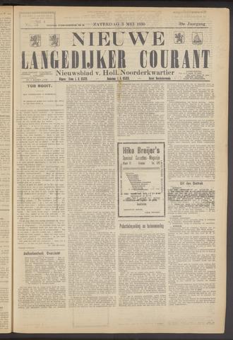 Nieuwe Langedijker Courant 1930-05-03