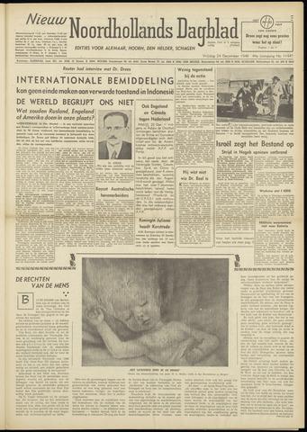 Nieuw Noordhollandsch Dagblad : voor Alkmaar en omgeving 1948-12-24