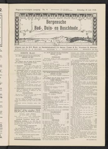 Bergensche bad-, duin- en boschbode 1938-07-30