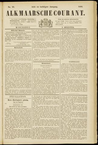 Alkmaarsche Courant 1886-08-04