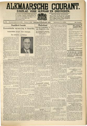 Alkmaarsche Courant 1934-09-22