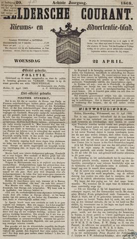 Heldersche Courant 1868-04-22