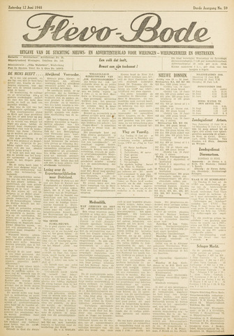 Flevo-bode: nieuwsblad voor Wieringen-Wieringermeer 1948-06-12