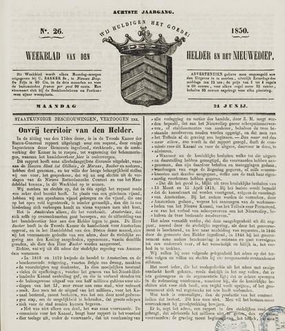 Weekblad van Den Helder en het Nieuwediep 1850-06-24