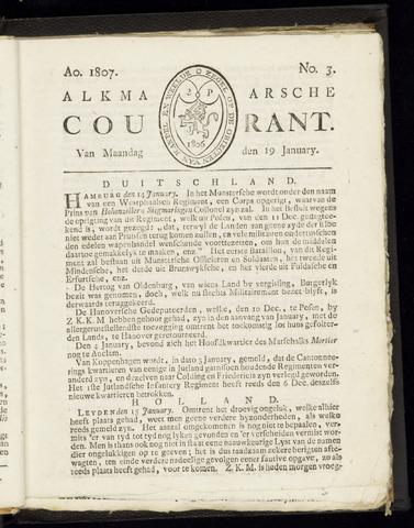 Alkmaarsche Courant 1807-01-19