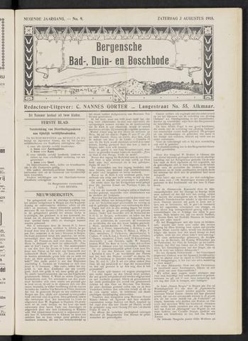Bergensche bad-, duin- en boschbode 1918-08-03