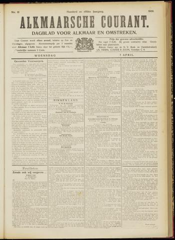 Alkmaarsche Courant 1909-04-07