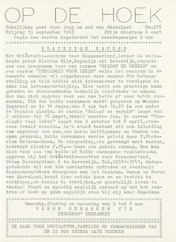 Op De Hoek, weekblad voor Akersloot 1963-09-13