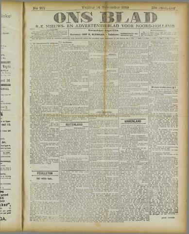 Ons Blad : katholiek nieuwsblad voor N-H 1919-11-14
