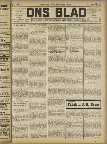 Ons Blad : katholiek nieuwsblad voor N-H 1916-11-18