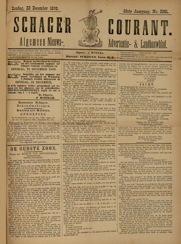Schager Courant 1889-12-22