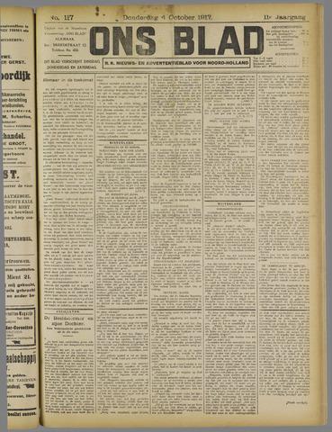 Ons Blad : katholiek nieuwsblad voor N-H 1917-10-04