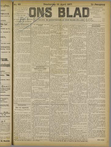 Ons Blad : katholiek nieuwsblad voor N-H 1917-04-12