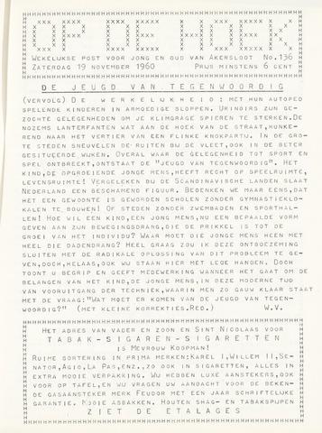 Op De Hoek, weekblad voor Akersloot 1960-11-19