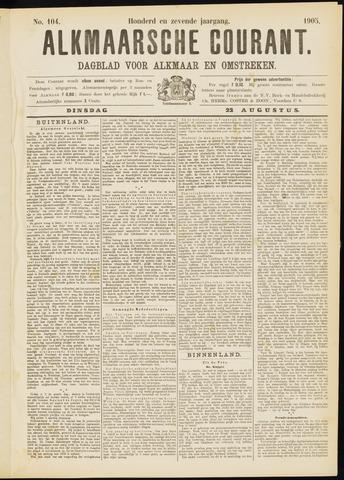 Alkmaarsche Courant 1905-08-22