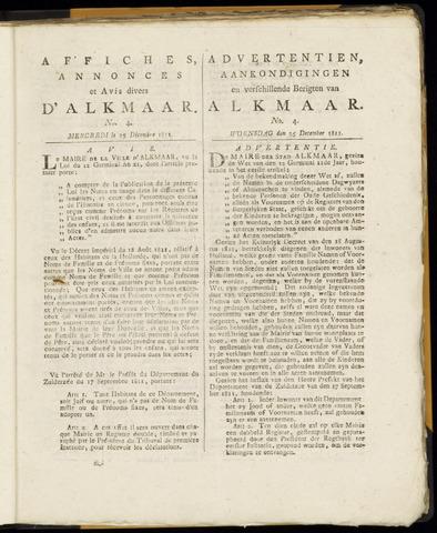 Alkmaarsche Courant 1811-12-25