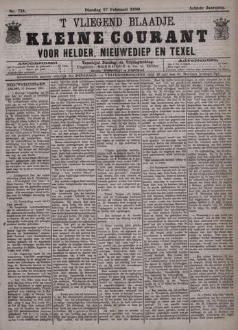 Vliegend blaadje : nieuws- en advertentiebode voor Den Helder 1880-02-17
