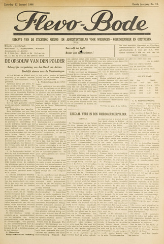 Flevo-bode: nieuwsblad voor Wieringen-Wieringermeer 1946-01-12
