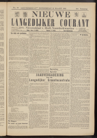 Nieuwe Langedijker Courant 1931-03-12