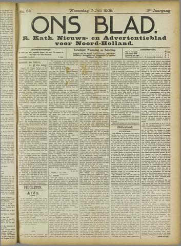 Ons Blad : katholiek nieuwsblad voor N-H 1909-07-07
