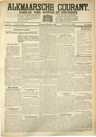 Alkmaarsche Courant 1933-11-04