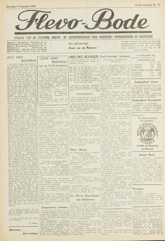 Flevo-bode: nieuwsblad voor Wieringen-Wieringermeer 1949-08-13