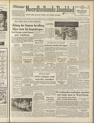 Nieuw Noordhollandsch Dagblad : voor Alkmaar en omgeving 1951-01-16