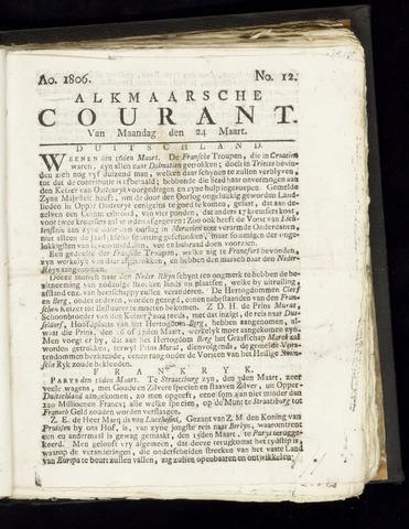 Alkmaarsche Courant 1806-03-24